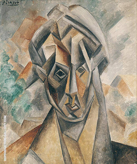 Portrait of Fernande 1909 By Pablo Picasso - Oil Paintings & Art Reproductions - Reproduction Gallery