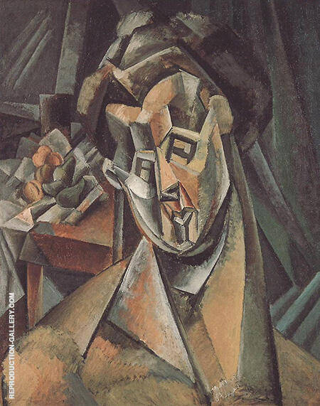 Woman with Pears Fernande 1909 By Pablo Picasso - Oil Paintings & Art Reproductions - Reproduction Gallery
