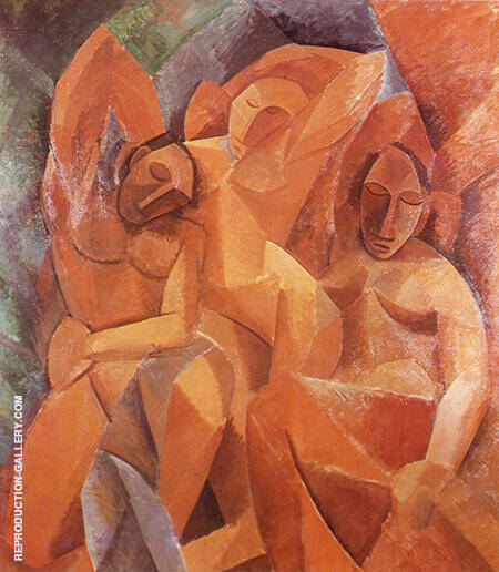 Three Women 1907 By Pablo Picasso - Oil Paintings & Art Reproductions - Reproduction Gallery