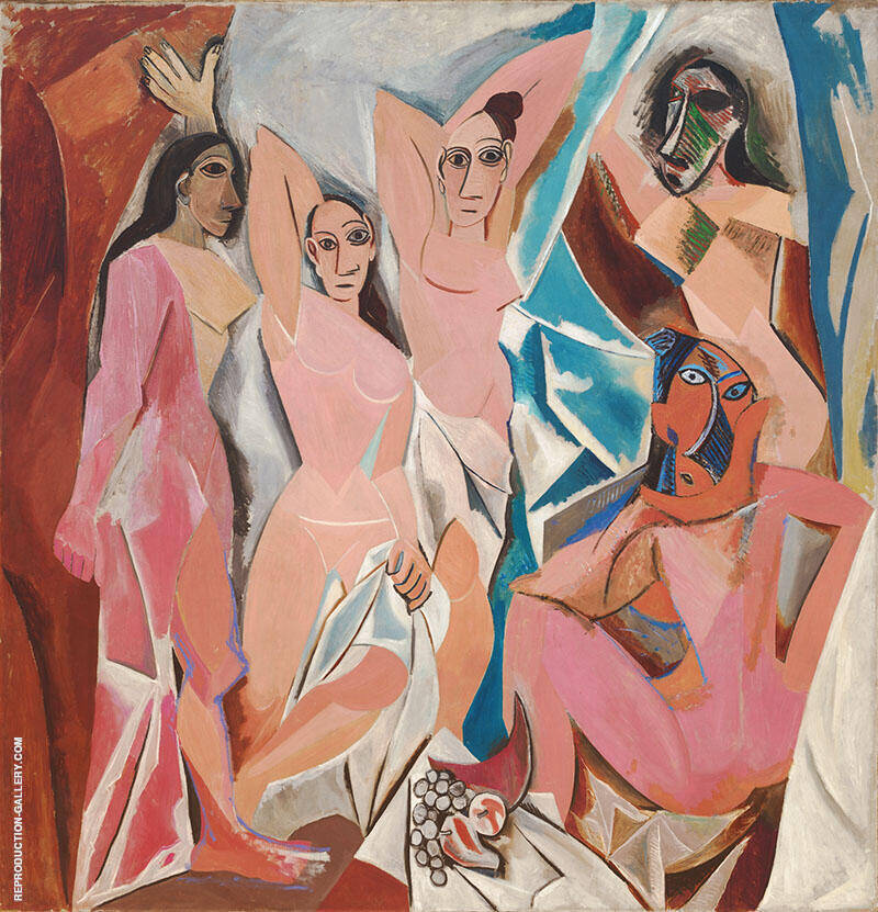 Les Demoiselles d'Avignon 1907 By Pablo Picasso
