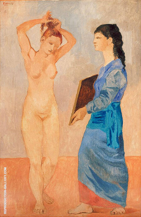 La Toilette 1906 By Pablo Picasso - Oil Paintings & Art Reproductions - Reproduction Gallery