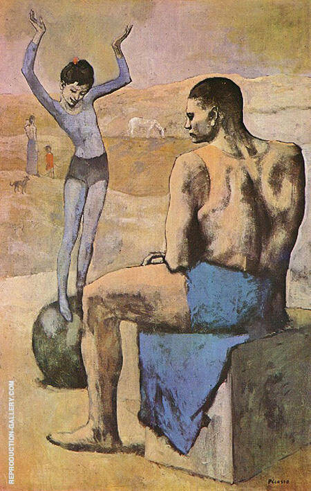 Acrobat with Ball 1905 By Pablo Picasso - Oil Paintings & Art Reproductions - Reproduction Gallery