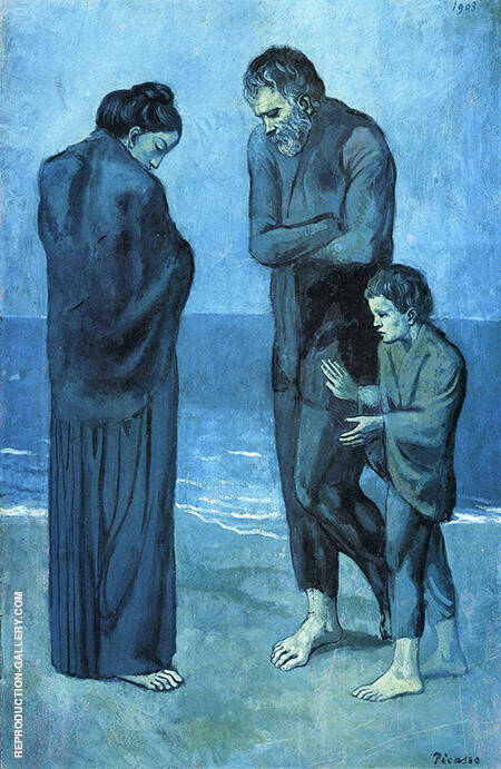 Reproduction of The Tragedy 1903 by Pablo Picasso | Oil Painting Replica On CanvasReproduction Gallery
