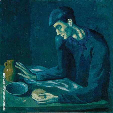Blind Man's Meal 1903 By Pablo Picasso - Oil Paintings & Art Reproductions - Reproduction Gallery