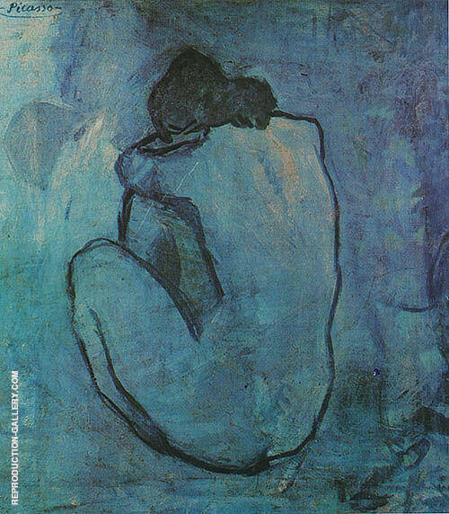 Blue Nude 1902 By Pablo Picasso