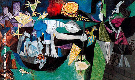 Night Fishing at Antibes 1939 By Pablo Picasso - Oil Paintings & Art Reproductions - Reproduction Gallery