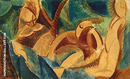 The Bathers By Pablo Picasso - Oil Paintings & Art Reproductions - Reproduction Gallery