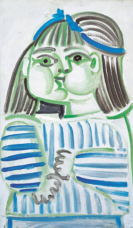 Buste de Jeune Fille Paloma 1951 By Pablo Picasso - Oil Paintings & Art Reproductions - Reproduction Gallery