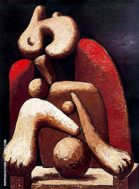 Reproduction of Woman in a Red Chair Armchair 1932 by Pablo Picasso | Oil Painting Replica On CanvasReproduction Gallery