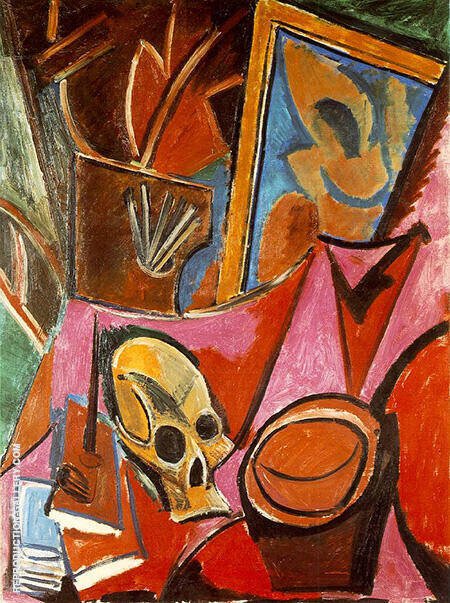 Composition with a Skull 1908 By Pablo Picasso - Oil Paintings & Art Reproductions - Reproduction Gallery