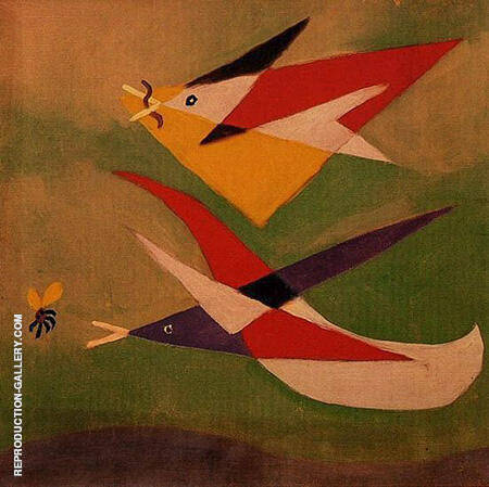Two Swallows 1932 By Pablo Picasso - Oil Paintings & Art Reproductions - Reproduction Gallery