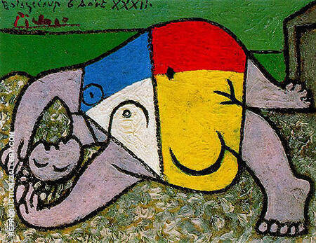 Reclining Woman on the Beach 1932 By Pablo Picasso - Oil Paintings & Art Reproductions - Reproduction Gallery