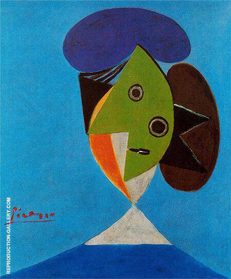 Bust of a Woman 1935 By Pablo Picasso - Oil Paintings & Art Reproductions - Reproduction Gallery