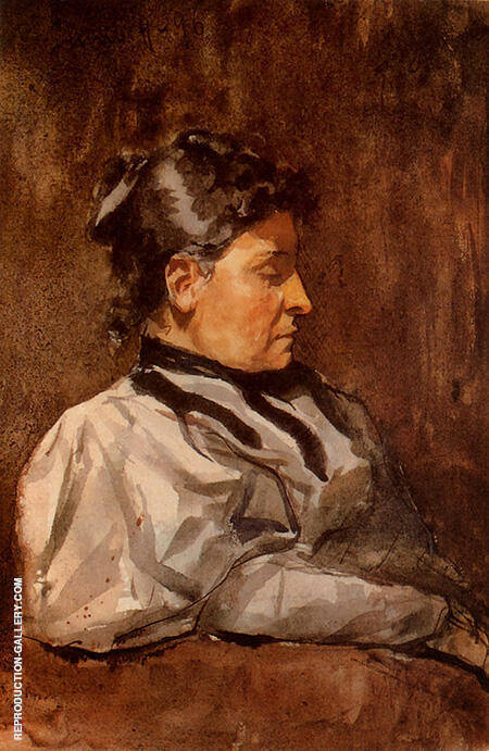 Portrait of the Artists Mother B 1896 By Pablo Picasso - Oil Paintings & Art Reproductions - Reproduction Gallery