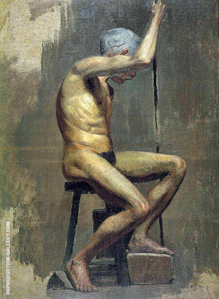Academic Nude c1895 By Pablo Picasso - Oil Paintings & Art Reproductions - Reproduction Gallery