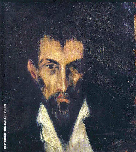 Head of a Man in the Style of El Greco 1899 By Pablo Picasso