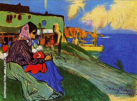 Gypsy Outside La Musciera 1900 By Pablo Picasso - Oil Paintings & Art Reproductions - Reproduction Gallery