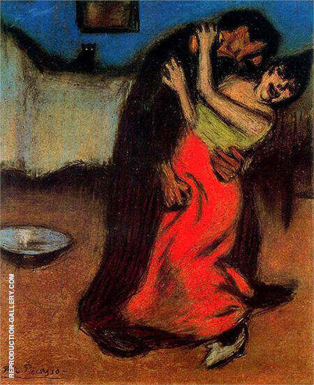 The Brutal Embrace 1900 By Pablo Picasso - Oil Paintings & Art Reproductions - Reproduction Gallery