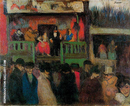 The Montmartre Fair 1900 By Pablo Picasso - Oil Paintings & Art Reproductions - Reproduction Gallery
