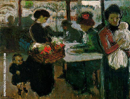 The Flower Vendor 1900 By Pablo Picasso - Oil Paintings & Art Reproductions - Reproduction Gallery