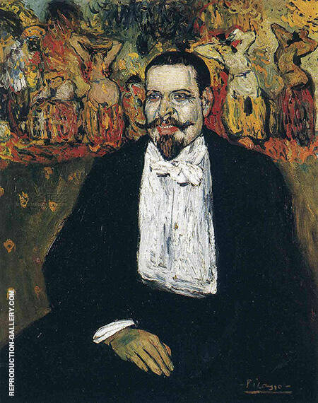 Portrait of Gustave Coquiot B 1901 By Pablo Picasso