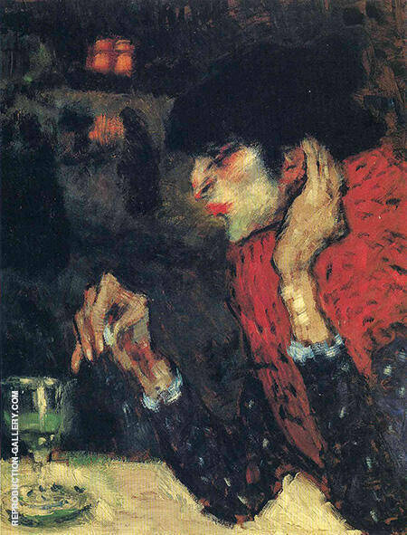 The Absinthe Drinker 1901 By Pablo Picasso - Oil Paintings & Art Reproductions - Reproduction Gallery