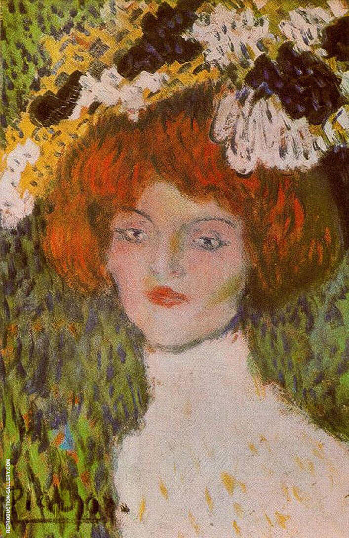 Portrait of a Woman 1901 By Pablo Picasso - Oil Paintings & Art Reproductions - Reproduction Gallery