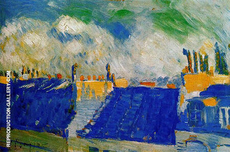 The Blue Roofs 1901 By Pablo Picasso - Oil Paintings & Art Reproductions - Reproduction Gallery