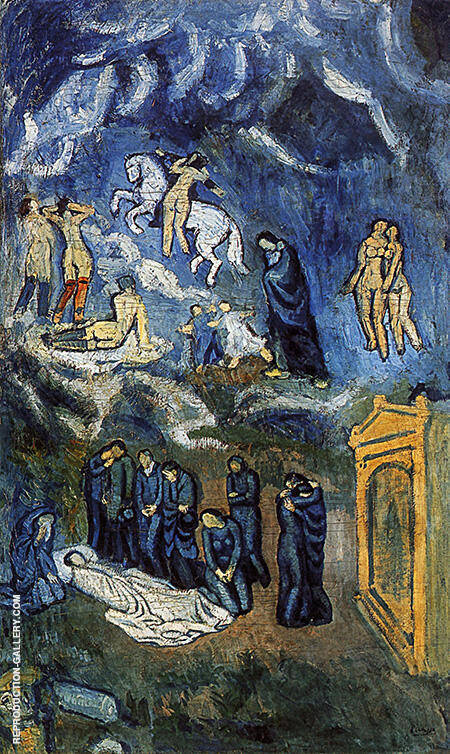 Evocation The Burial of Casagemas 1901 By Pablo Picasso - Oil Paintings & Art Reproductions - Reproduction Gallery
