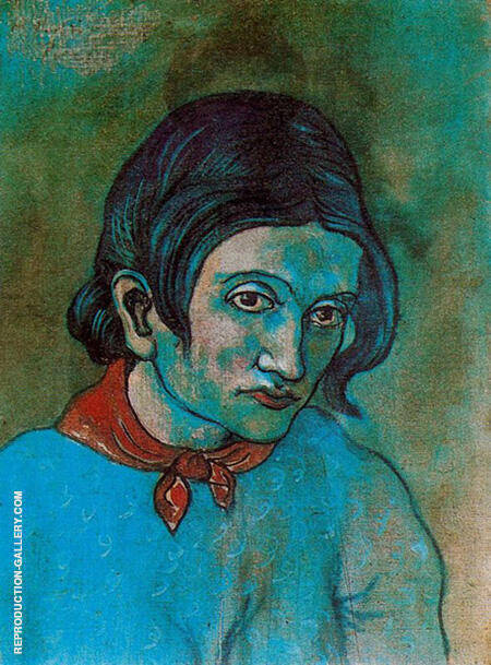 Woman with a Scarf 1903 By Pablo Picasso - Oil Paintings & Art Reproductions - Reproduction Gallery