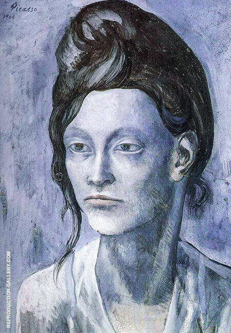 Woman with Her Hair Up 1904 By Pablo Picasso - Oil Paintings & Art Reproductions - Reproduction Gallery