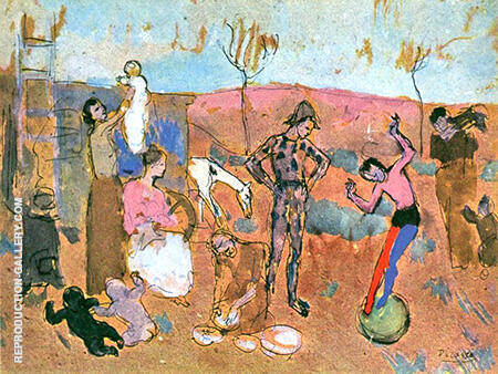 Circus Family The Tumblers 1905 By Pablo Picasso - Oil Paintings & Art Reproductions - Reproduction Gallery