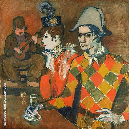 At the Lapin Agile 1905 By Pablo Picasso - Oil Paintings & Art Reproductions - Reproduction Gallery