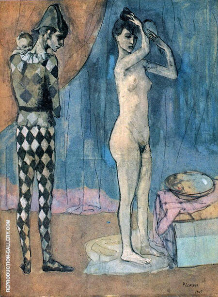 The Harlequins Family 1905 By Pablo Picasso - Oil Paintings & Art Reproductions - Reproduction Gallery