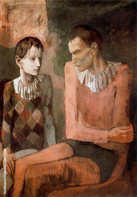 Acrobat and Young Harlequin 1905 By Pablo Picasso - Oil Paintings & Art Reproductions - Reproduction Gallery