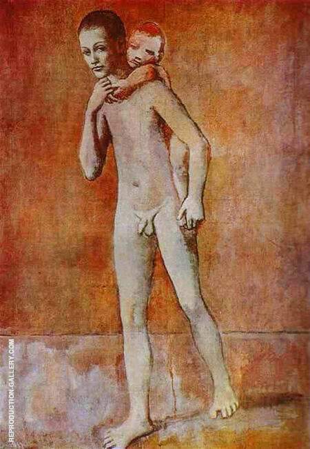 The Two Brothers 1906 By Pablo Picasso - Oil Paintings & Art Reproductions - Reproduction Gallery