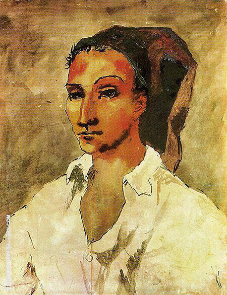 Young Man from Gosol 1906 By Pablo Picasso - Oil Paintings & Art Reproductions - Reproduction Gallery