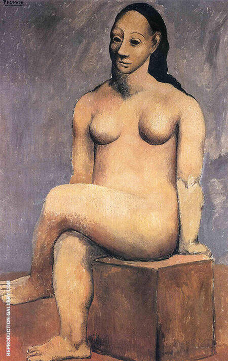 Reproduction of Seated Nude with Crossed Legs 1906 by Pablo Picasso | Oil Painting Replica On CanvasReproduction Gallery