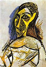 Female Nude Study for Les Demoiselles dAvignon 1907 By Pablo Picasso