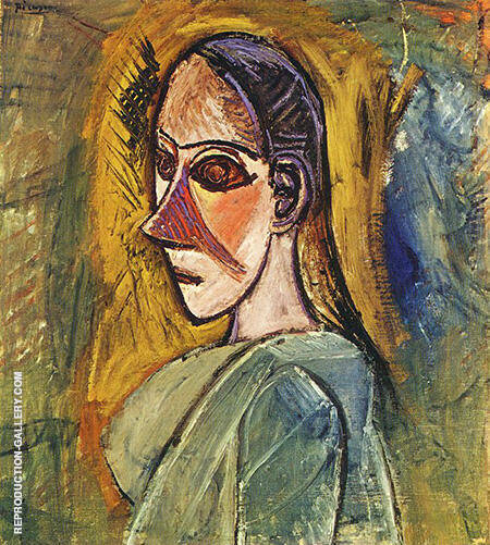 Bust of a Woman 1907 By Pablo Picasso - Oil Paintings & Art Reproductions - Reproduction Gallery