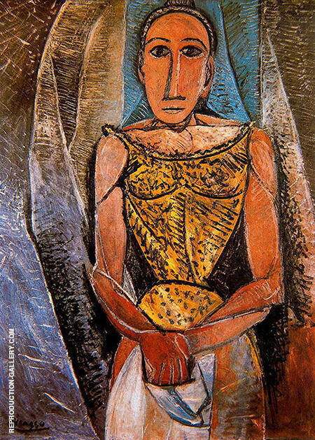 Woman with Yellow Shirt 1907 By Pablo Picasso - Oil Paintings & Art Reproductions - Reproduction Gallery