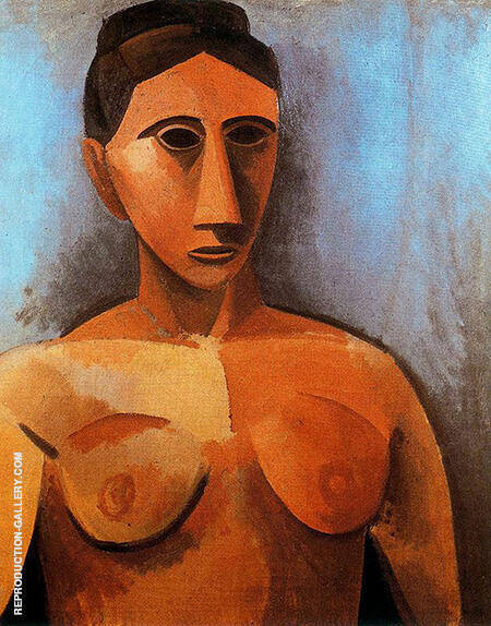 Bust of a Woman 1908 By Pablo Picasso - Oil Paintings & Art Reproductions - Reproduction Gallery