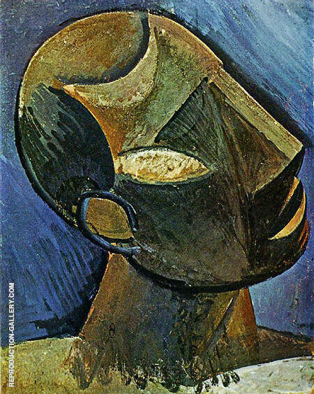 Head of a Man A 1908 By Pablo Picasso - Oil Paintings & Art Reproductions - Reproduction Gallery