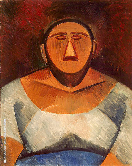 Peasant Woman 1908 By Pablo Picasso - Oil Paintings & Art Reproductions - Reproduction Gallery