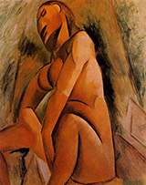 Seated Nude 1908 By Pablo Picasso