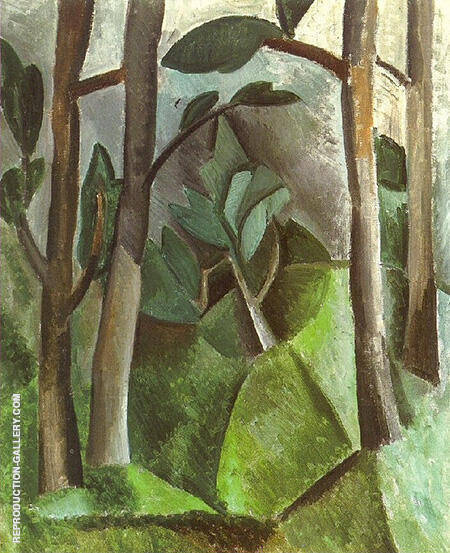 Landscape 1908 By Pablo Picasso - Oil Paintings & Art Reproductions - Reproduction Gallery