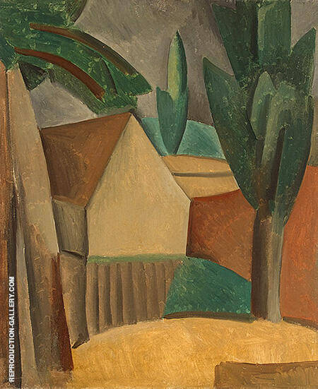 Reproduction of House in a Garden 1908 by Pablo Picasso | Oil Painting Replica On CanvasReproduction Gallery