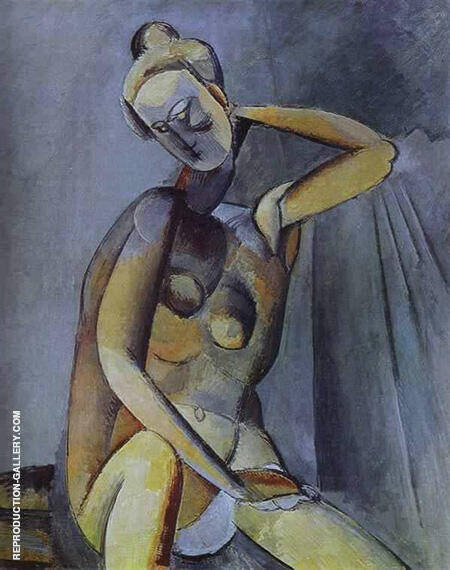 Nude 1909 By Pablo Picasso - Oil Paintings & Art Reproductions - Reproduction Gallery