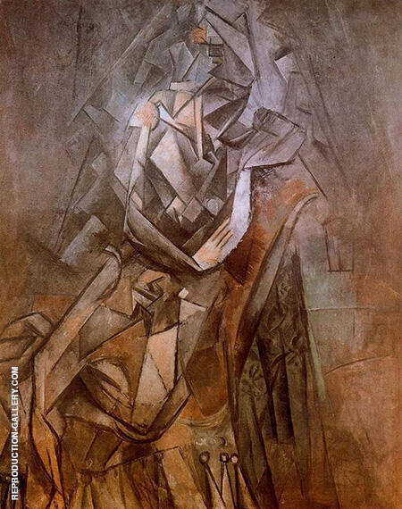 Seated Woman in an Armchair 1910 By Pablo Picasso - Oil Paintings & Art Reproductions - Reproduction Gallery
