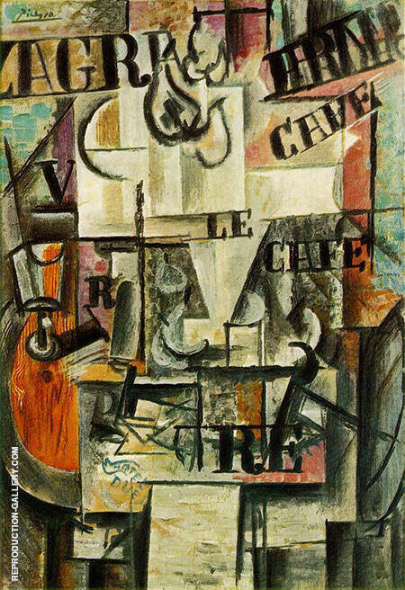 Bowl of Fruit 1912 By Pablo Picasso - Oil Paintings & Art Reproductions - Reproduction Gallery